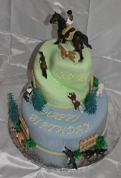 child& cake for a little girl/boy. love the spiral effect on the top tier! Cowgirl Cakes, Western Cakes, Cupcakes, Cupcake Cookies, Renn Kuchen, Beautiful Cakes, Amazing Cakes, Horse Birthday, Cowgirl Birthday