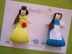 Disney Princess Belle inspired ribbon hair clip ......Special Edition