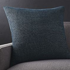 Shop Maura Midnight Pillow with Down-Alternative Insert. Jacquard-woven chenille yarn contributes a natural honeycomb texture to the pillow's rich blue color. Blue Pillows, Throw Pillows, Blue Curtains Living Room, Parlor Room, Boston Apartment, Jacquard Weave, Crate And Barrel, Midnight Blue, Decorative Pillows