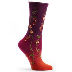 Ozone Socks Tibetan Flowers Sock - Assorted Colors - Free Shipping! - Women's Socks - Clothing & Accessories