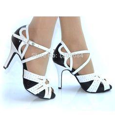 Encontrar Más Zapatos de Baile Información acerca de Más mujeres del tamaño de cuero del talón delgadas suela de salón de baile de Samba zapatos de baile latino zapatos de punta abierta Salsa Rumba baile venta al por mayor, alta calidad Zapatos de Baile de Rainbow Sports Co.,Ltd en Aliexpress.com