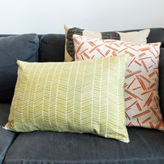 Sew a pillow cover with a zipper for easy washing.