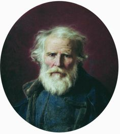 Portrait of the Artist's Father, 1871 by  Fyodor Bronnikov (Russian 1827-1902)
