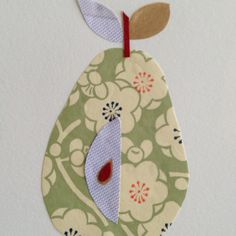 Pear card by ellifont hand made cards