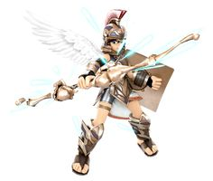 Pit Three Sacred Treasures Render by on DeviantArt Kid Icarus Uprising, Super Smash Bros Brawl, Character Art, Character Design, Sonic And Amy, Nintendo Characters, Concept Weapons, Funny Games, Best Games