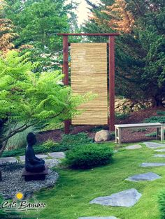 Beautiful bamboo fence screens for a Japanese zen garden