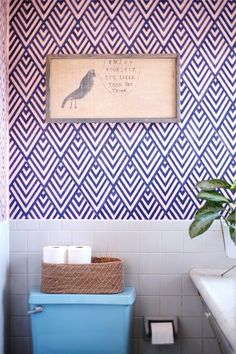 Accent Wall Inspiration: DIY Faux Wallpaper | Apartment Therapy