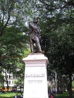 """Giuseppi Garibaldi""  Washington Square Park. # New York City, USA."