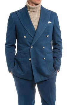 Stile Latino Citterio Blue Denim Jacket - Mens - Tailored - Sport Coats - AXEL'S - 1