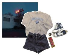 """""""baby say goodbye"""" by junk-food ❤ liked on Polyvore featuring Converse, Columbia and American Apparel"""
