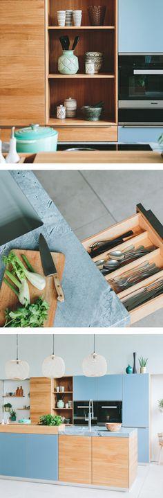 WALDEN Küche aus Holz   Modernes Design & clevere Ideen kombiniert Shelves, Home Decor, Contemporary Design, Oak Tree, House, Ideas, Shelving, Decoration Home, Room Decor
