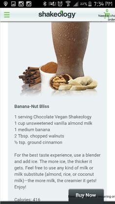 Banana-Nut Bliss: Chocolate, banana, walnuts, cinnamon