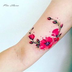 #poppies by @pissaro_tattoo · Crimea #tattoofilter #tatuajes #tattoos #artist #art #tf