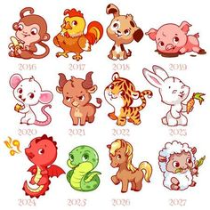 Illustration about Set of zodiac signs in cartoon style. Vector illustration isolated on a white background. Illustration of cute, horse, collection - 75832842 Cute Animal Drawings, Cartoon Drawings, Cute Drawings, Cartoon Disney, Cute Cartoon, Chinese Zodiac Signs, 12 Zodiac Signs, Art Zodiaque, Zodiac Signs Animals
