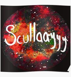 """""""Copy of Scullayyyy Red Space Nebula """" by Niina Niskanen"""
