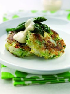 Bubble and squeak with hollandaise - A stunning way to enjoy new season asparagus but equally delicious served with tomatoes or avocado.