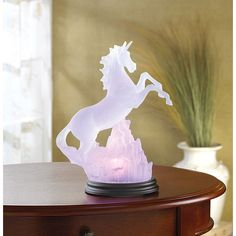 Frosted Unicorn Table Night Light Changing Colors Fantasy Table Lamp Home Decor