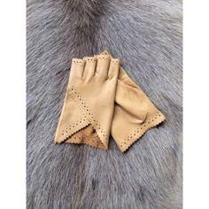 Women's Fingerless Leather Gloves