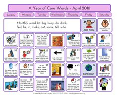 PrAACtically April: Resources for a Year of Core Vocabulary Words