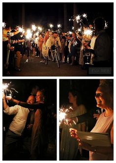 Sarah & Jamie - Tandem Bike Sparkler Exit - Fireseed Catering Wedding - Whidbey Island - Eva Rieb Photography