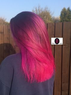 Pink hair sombre manic panic arctic fox long hair mermaid unicorn colour melt
