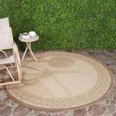 Safavieh Courtyard Donna Power-Loomed Indoor/Outdoor Area Rug or Runner, Brown