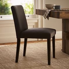 Porter Upholstered Dining Chair - Iron #westelm