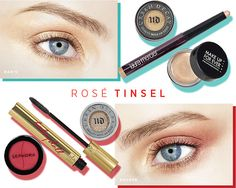MAKING FACES: ROSÉ TINSEL EYE How to put a glint in (and around) your eyes this season. Brighten up your holiday outlook with a shimmery eye...
