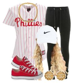 . by trillest-queen on Polyvore featuring polyvore fashion style Balmain Chanel NIKE clothing