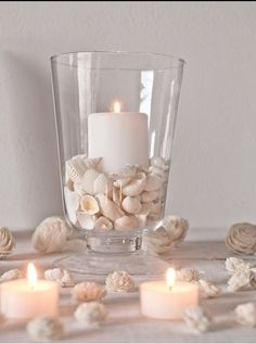 seashells candles