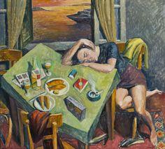 Pavlos Samios, 1948 ~ Greek romance Traditional Paintings, Contemporary Paintings, Religious Paintings, Painting Workshop, Greek Art, Paintings I Love, Conceptual Art, Figurative Art, Art History