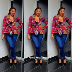 Ankara tops generally are every woman's desire as it helps to enhance the natural figure. It fits all body sizes extremely well, and its Ankara styles are outstanding and spectacular. African Inspired Fashion, African Print Fashion, Africa Fashion, Fashion Prints, African Print Dresses, African Fashion Dresses, African Dress, African Prints, Ghanaian Fashion