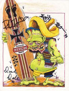SIGNED Ed BIG DADDY Roth RAT FINK COMIX LOT Monster Kustom! Surf! DICK DALE! #JohnnyAceStudiosEdRothInc