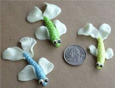 3 silly Fish Fimo and Sculpey