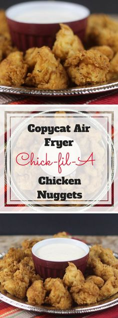 Copycat Air Fryer Chick fil A Chicken Nuggets Recipe ⋆ by Pink Stuck on what to make your kid for lunch this week? Try this copycat Chick-Fil-A chicken nuggets recipe using an Air Fryer. Avocado Toast, Nuwave Air Fryer, Chick Fil A Nuggets, Fish Nuggets, Air Fryer Oven Recipes, Air Fryer Chicken Recipes, Air Fryer Fried Chicken, Air Fryer Chicken Tenders, Air Fyer Recipes