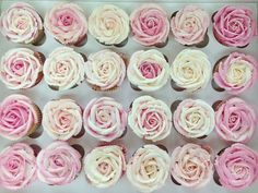 Roses Cupcakes.  Great for a wedding or baby shower, or maybe even a V-Day party.