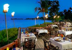 Incredible views accompany delicious international cuisine at Bayside. Sandals Negril, love it!