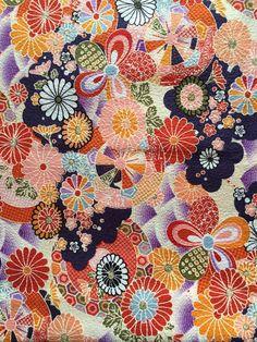 Chrysanthemum Flower printed kimono design by HanamiBoutique