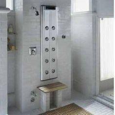 kohler shower panel w/ hydromassage