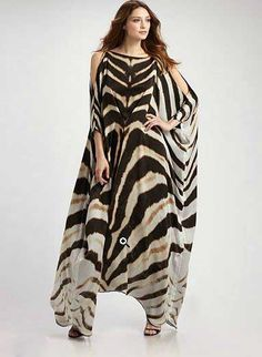 zebra print kaftan - maybe too much zebra but pretty cut.