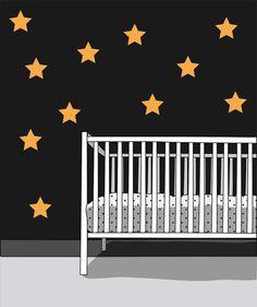 STARS 33 pieces Scandinavian pattern wall by LoonyBinWorkshop