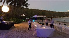 Coconut Beach long table setup