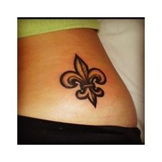 fleur de lis tattoo for girls on hip. met Art~tattoos