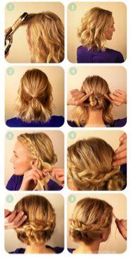 Tener el pelo corto ya no es problema para crear un peinado bonito.