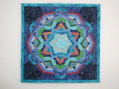 Kaleidoskop Wandquilt nach Ricky Tims, ca. 110x110