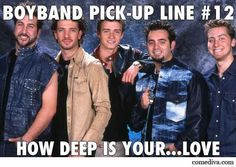 Boyband Pickup Line #12... #nsync #*nsync #boyband #pickupline #12 #lancebass #justintimberlake #joeyfatone #chriskirkpatrick #jcchasez #90s #comediva #love #deep
