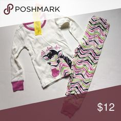 Zebra pajamas These zoo themed pjs are pink, green and white.They are 100% cotton. They are perfect for most seasons as they are lightweight. Gymboree Pajamas Pajama Sets