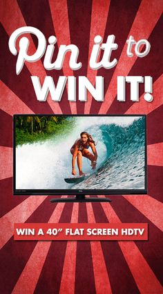 *FREE* 40-Inch Flat Screen HDTV Giveaway - Pin To Win