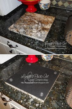 Lynetteu0027s Photo Art   Take A Granite Sample And Cover The Back With Felt  Then Cement · Granite Cutting BoardCutting ...