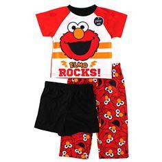 Sesame Street Elmo Toddler 3 pc Pajamas Set Sesame Street #YankeeToyBox #elmo #sesamestreet